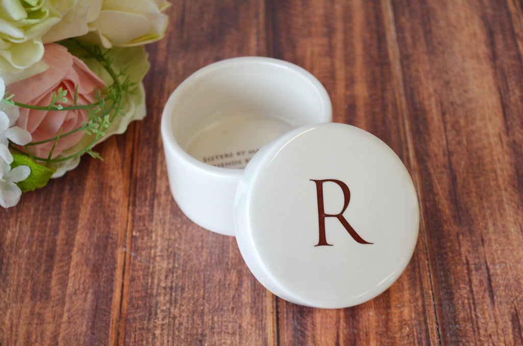 Unique Bridesmaid Gift or Sister in Law Gift  - Round Ceramic Keepsake Box - With Gift Box