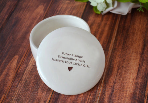 Unique Mother of the Bride Gift - Keepsake Box - Today a Bride Tomorrow a Wife Forever Your Little Girl -Gift Boxed and Ready to GIve