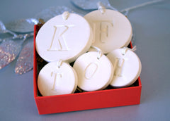 Family of 5 Customized Christmas Ornaments, Gift boxed and Ready To Give