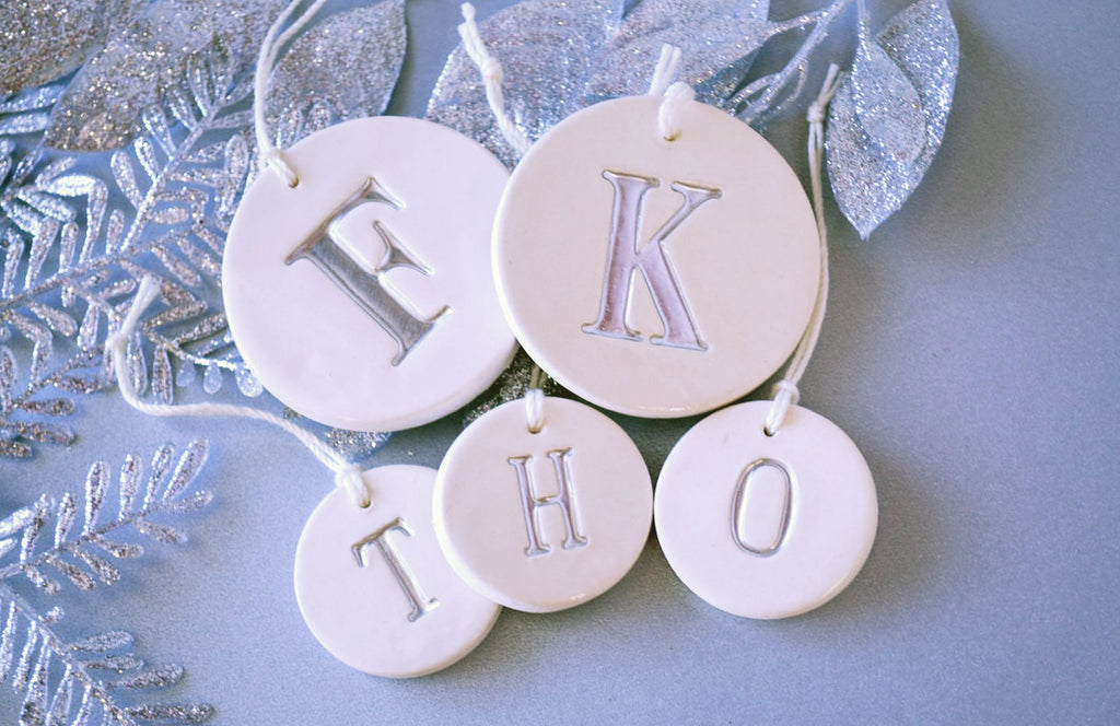 Family of 5 Customized Christmas Ornaments - in Gold, Silver or Black - SHIPS FAST - Gift boxed and Ready To Give