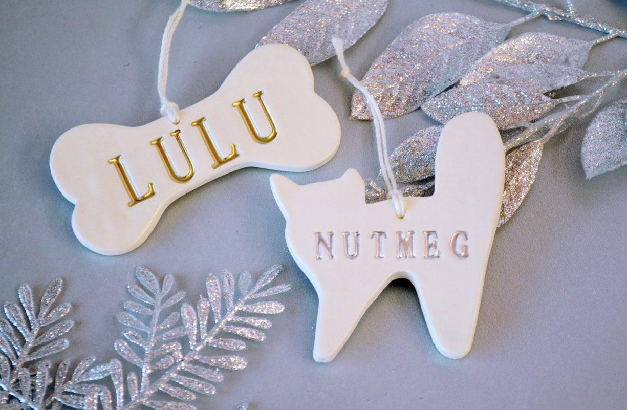 Personalized cat christmas ornaments - Personalized Dog And Cat Christmas Ornament With Name Gift Boxed
