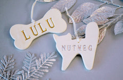 Personalized Dog and Cat Christmas Ornament with Name - Gift Boxed