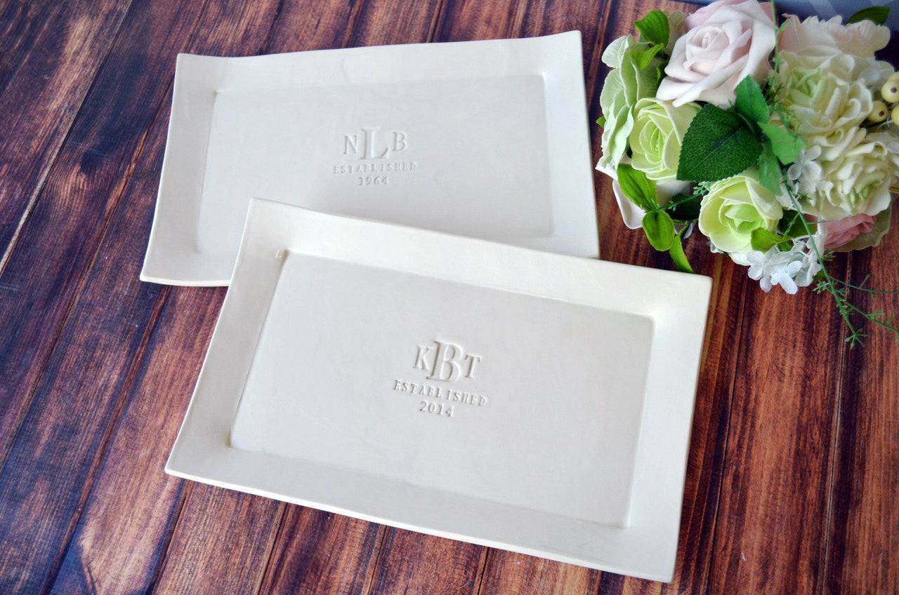 set of personalized rectangular platters unique wedding gift for both set of parents gift boxed wedding gifts for parents Set of Personalized Rectangular Platters Unique Wedding Gift for Both Set of Parents Gift