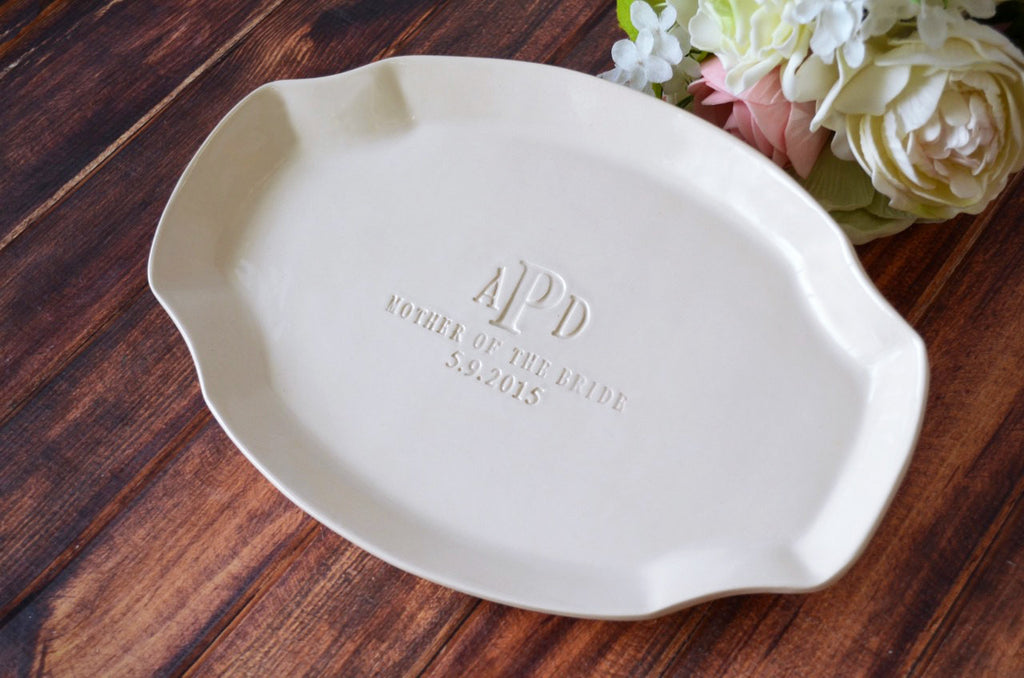 Personalized Platter - Mother of the Bride or Groom Wedding Gift