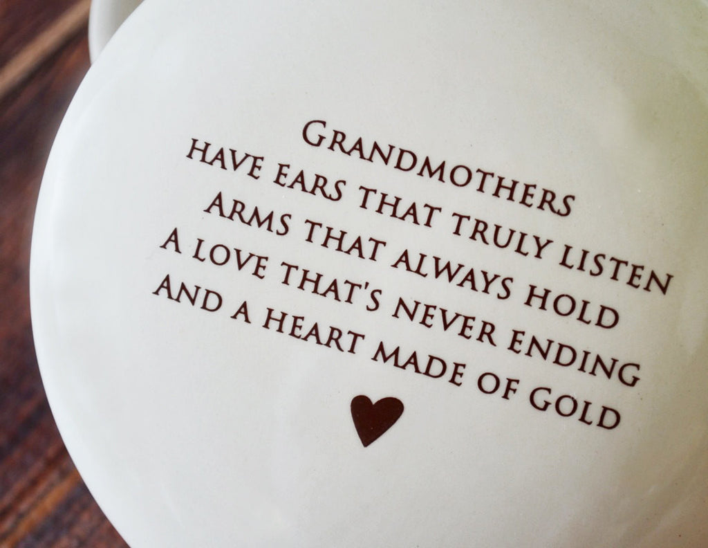 Unique Grandmother Gift - Add Custom Text - Round Keepsake Box -  With Gift Box