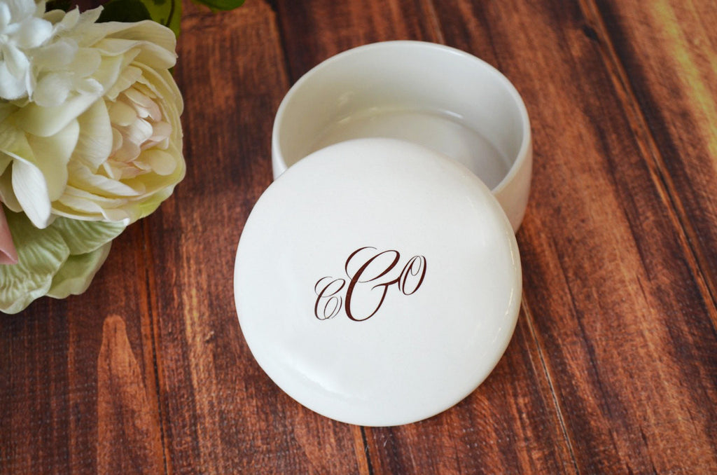 Unique Bridesmaid or Hostess Gift - Monogrammed Keepsake Box - With Gift Box