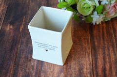 SHIPS FAST - Unique Teacher Gift - Teachers plant the seeds of knowledge that will grow forever.- Square Vase - With gift box