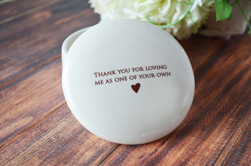 Unique StepMother of the Bride or Groom Gift - Keepsake Box - Thank you for loving me as one of your own - Add Custom Text