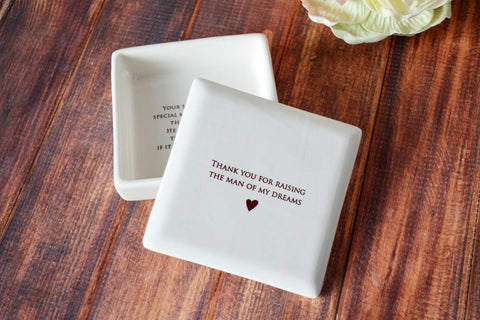 SHIPS FAST - Unique Mother of the Groom Gift or Birthday Gift - Square Keepsake Box - With Gift Box