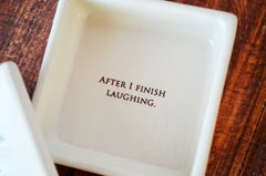 SHIPS FAST - Funny Friendship Gift - Keepsake Box - Always remember that if you fall I will pick you up... - Gift Boxed