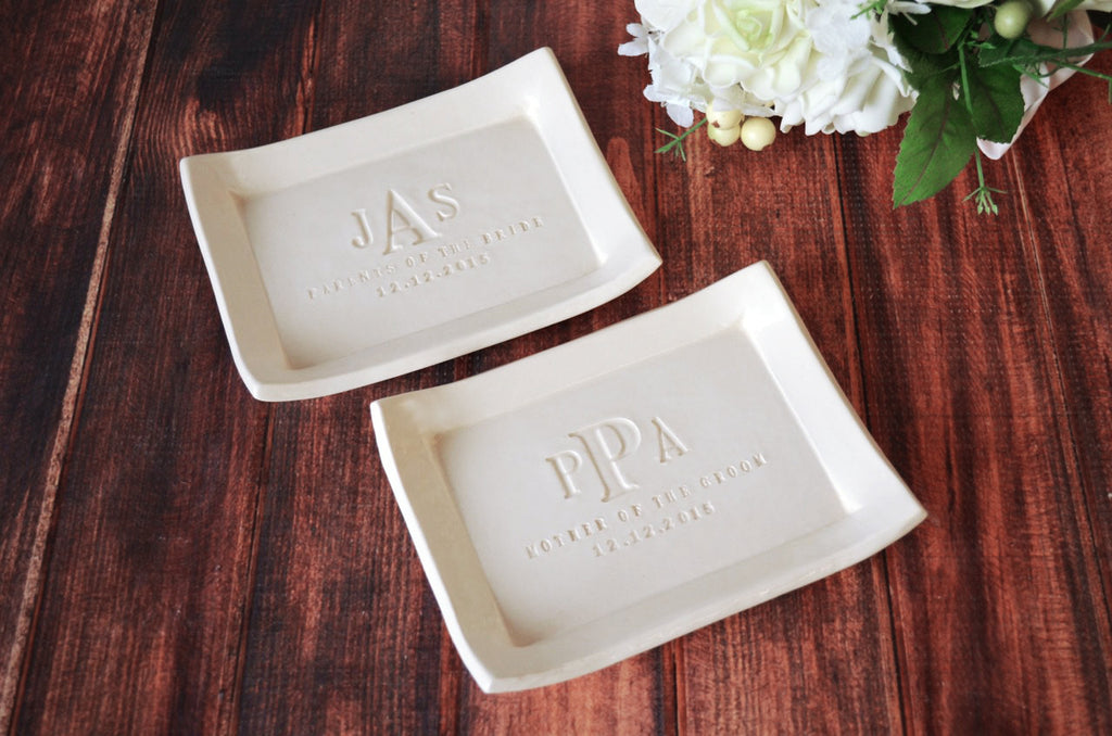 Mother of the Bride and Mother of the Groom Gift - Set of 2 - Small Platter or Tray