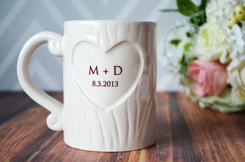 Wedding Gift or Anniversary Gift - Personalized Sweet Heart Coffee Mug