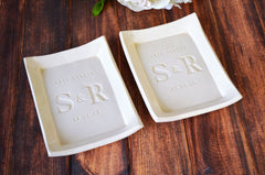 Mother of the Bride and Mother of the Groom Gift - Set of 2 - Personalized Love Always Small Platter or Tray - With Gift Box