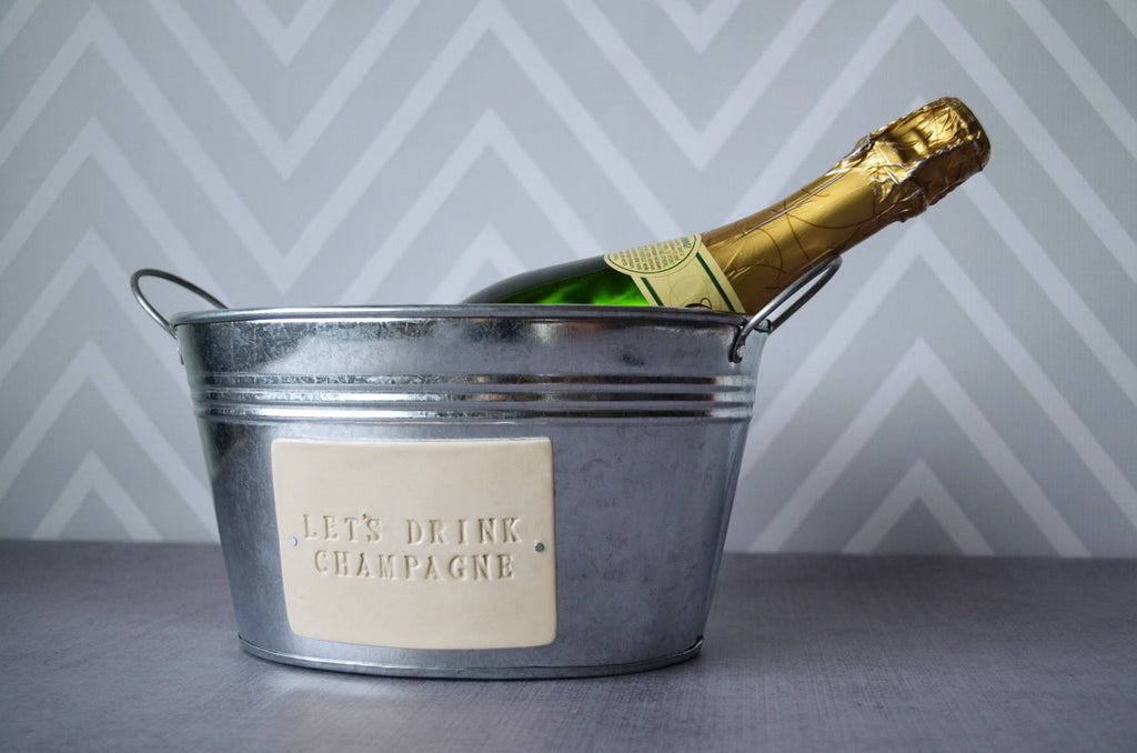 Let's Drink Champagne - Champagne Bucket - Wedding Gift