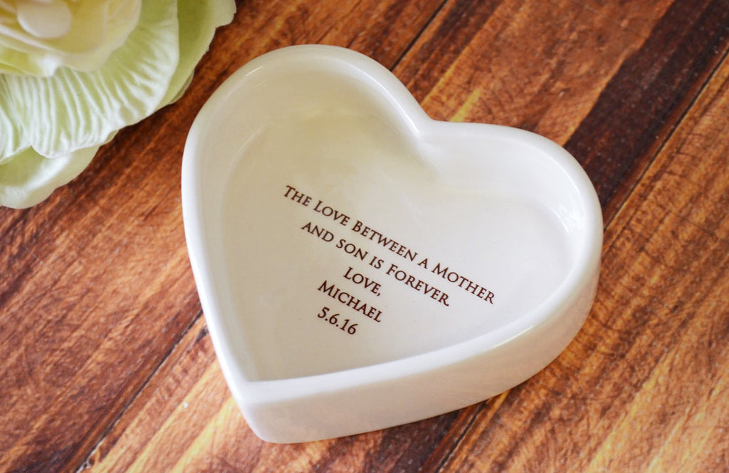 Unique Mother of the Groom Gift - Heart Shaped Keepsake Box - Today a Groom, Tomorrow a Husband, Forever Your Son - With Gift Box