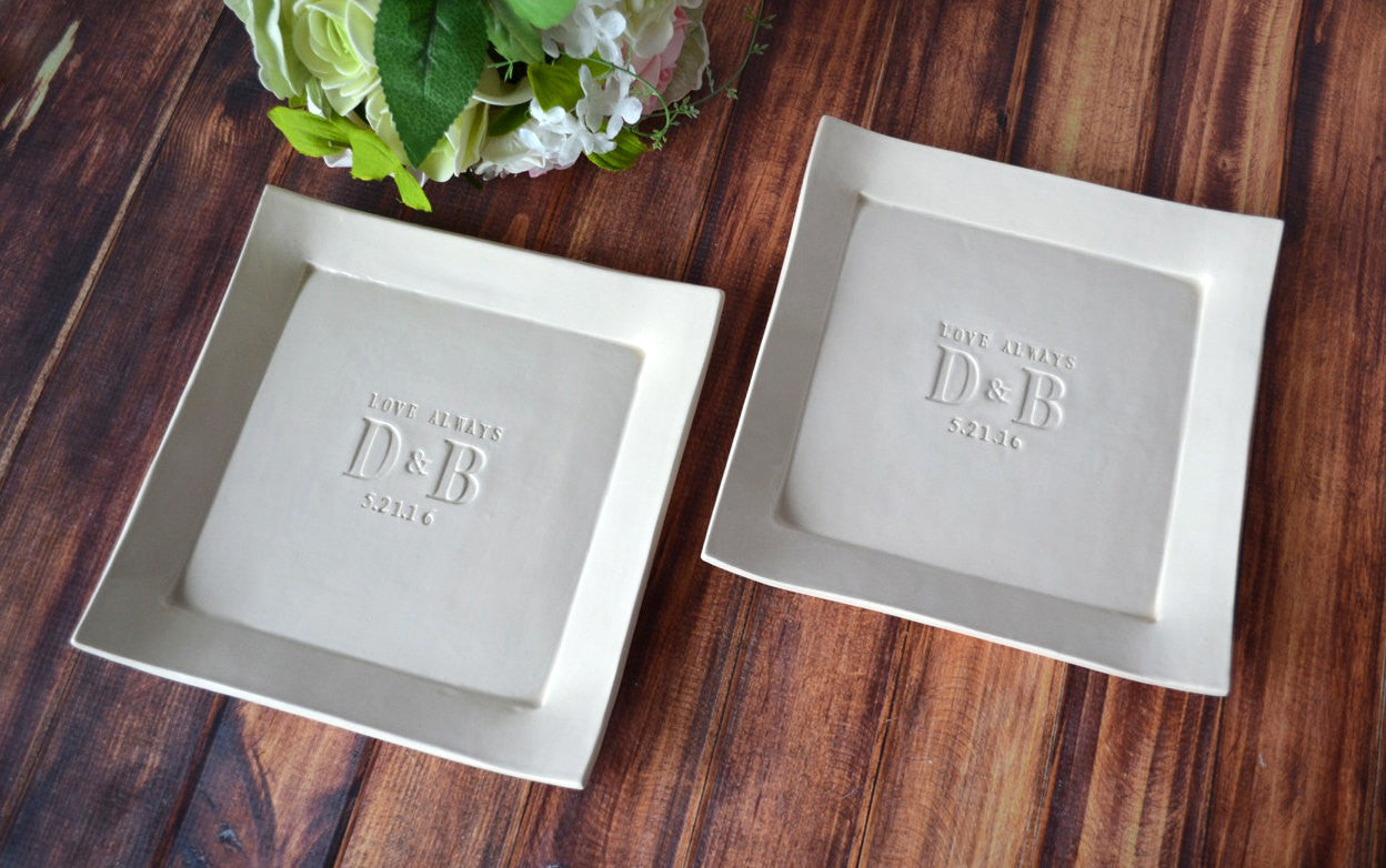 Unique Wedding Gift Ideas For Bride And Groom: Set Of Personalized Platters