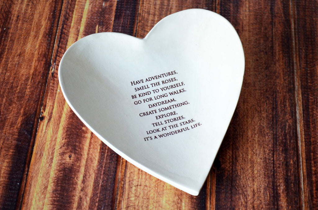 Baptism Gift or First Communion Gift - Large Heart Bowl - SHIPS FAST - Have Adventures...