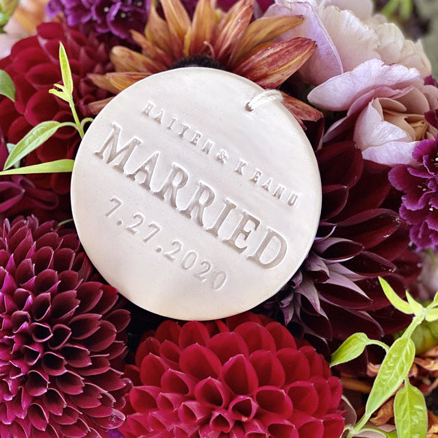 Just Married Ornament - Wedding Gift or Christmas Gift - With Names and Date - Gift Boxed