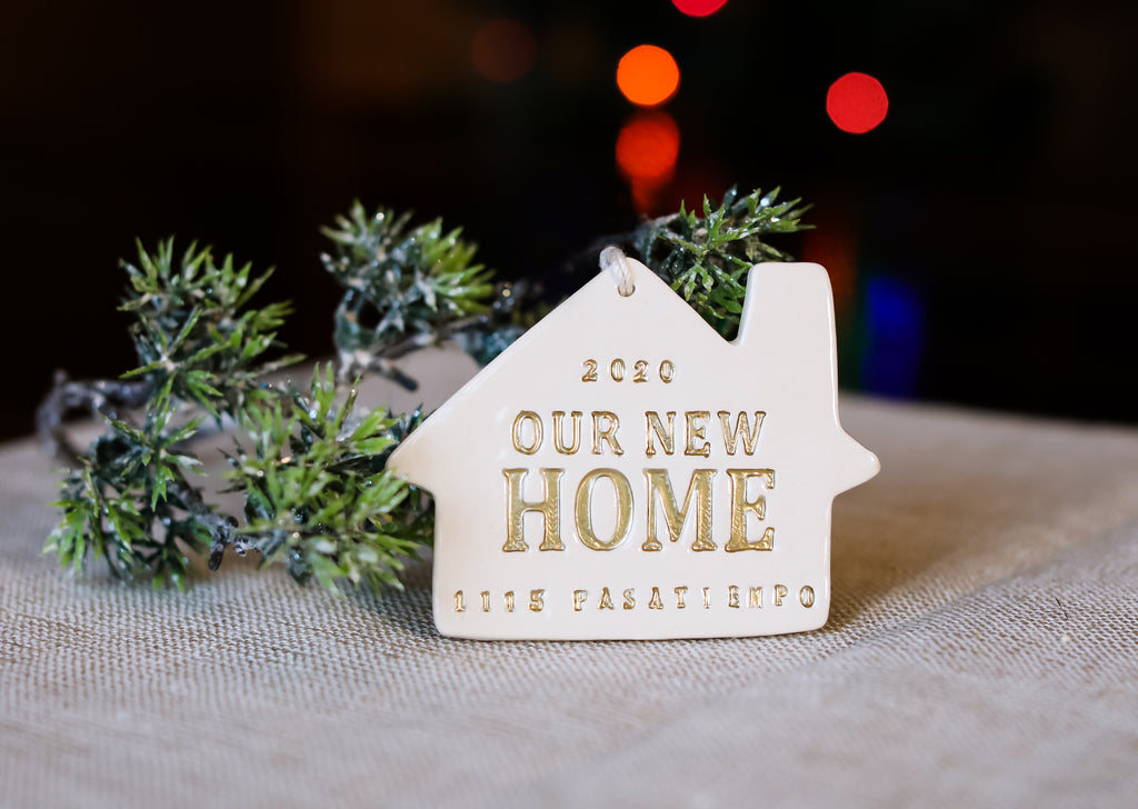 Personalized Christmas Ornament - Our First or Our New Home 2021 - Gift Boxed and Ready to Give