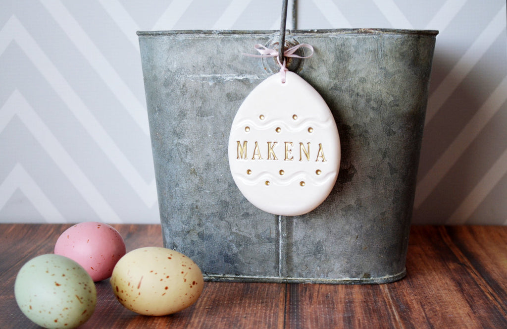Easter Gift, Baby Easter Gift, First Easter Gift, Easter Ornament, Egg Ornament, Easter Gift Tag- Personalized - Gift Boxed