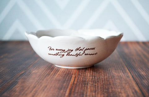 Sympathy Gift - In Our Hearts Forever - SHIPS FAST - Heart Shaped Ceramic Keepsake Box- With Gift Box