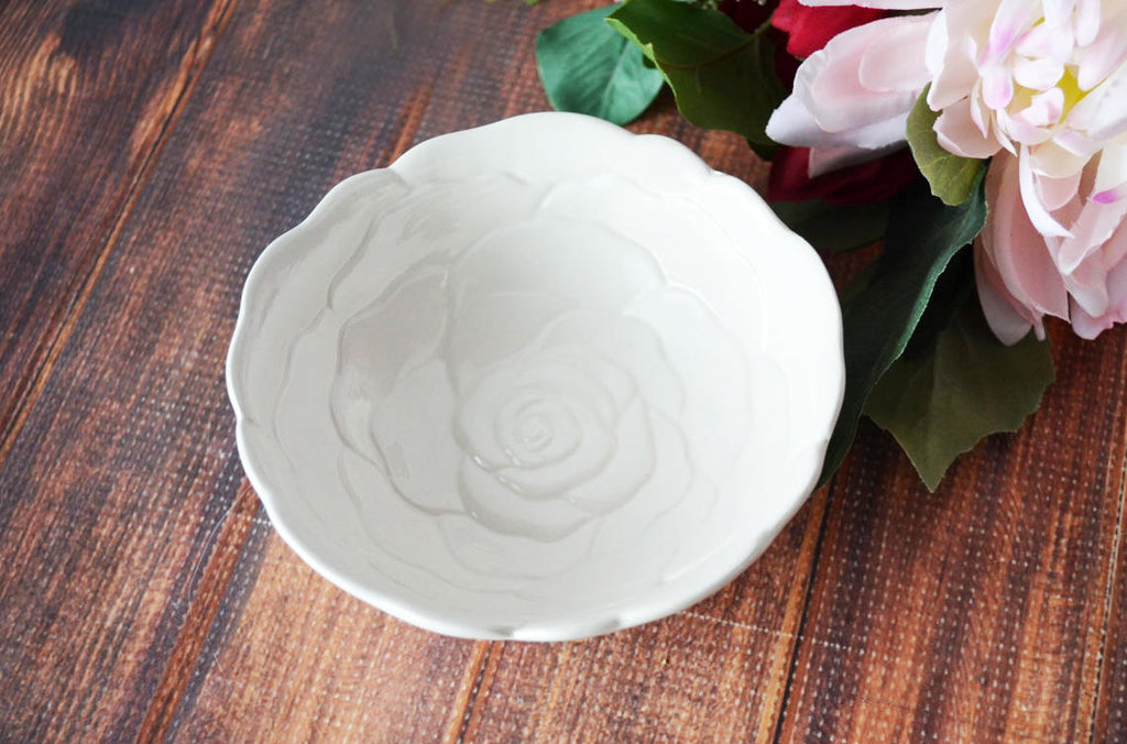 Sympathy Rose Bowl - SHIPS FAST - For every joy that passes something beautiful remains