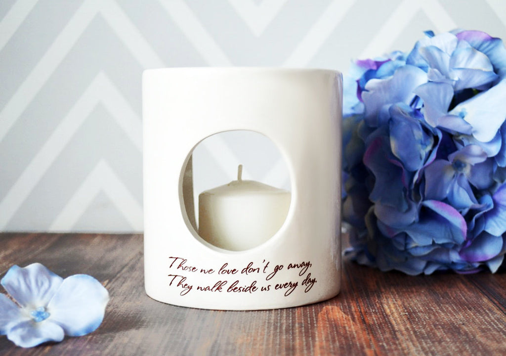 Sympathy Gift, Sympathy Candle, Sympathy Votive - SHIPS FAST - Those we love don't go away, They walk beside us every day - Gift Boxed