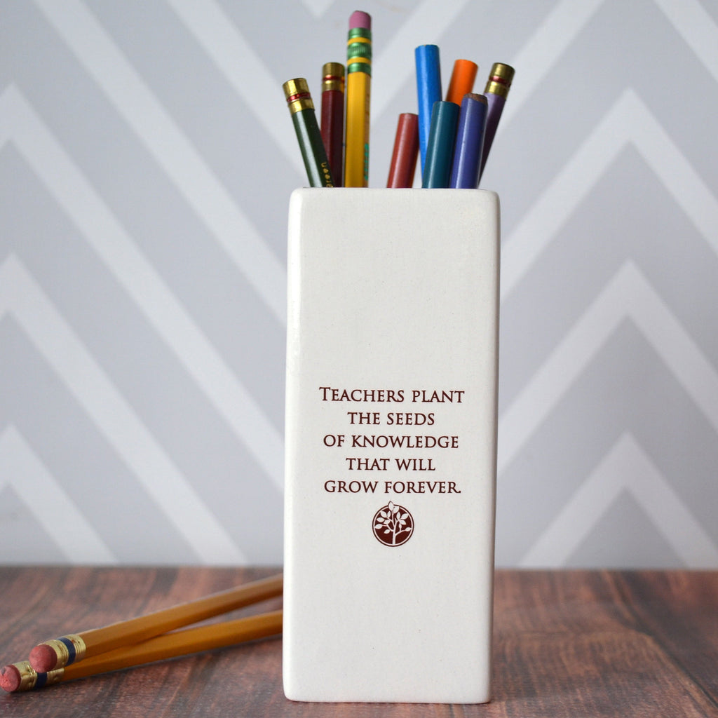 Teachers plant the seeds of knowledge that will grow forever - Vase - Teacher Gift - SHIPS FAST