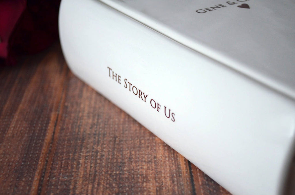 50th Anniversary Gift, Gold Anniversary, 50 Years Wedding Anniversary, Golden Anniversary - The Story of Us - Keepsake Book Box