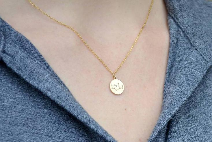 Zodiac Jewelry, Zodiac Necklace, Constellation Necklace, Astrology Necklace, Gemini Necklace in Gold