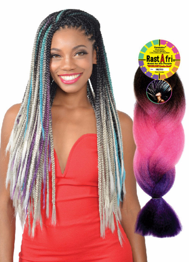 Golden State Rastafri Highlight Jumbo Braid Synthetic Braiding Hair - Wow Beauty Supply