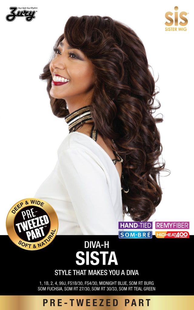 Zury Diva Sista Pre-tweezed Part Synthetic Wig - Wow Beauty Supply - 1