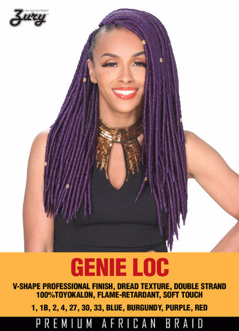 Zury Genie Loc Braid color Burgundy Synthetic Braiding Hair - Wow Beauty Supply - 1
