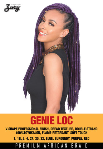 Zury Genie Loc Braid color Burgundy Synthetic Braiding Hair - Wow Beauty Supply - 2
