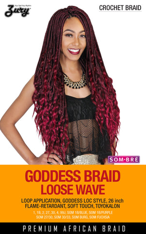 Zury Goddess Braid Loose Wave Synthetic Braiding Hair Crochet Braid - Wow Beauty Supply - 2