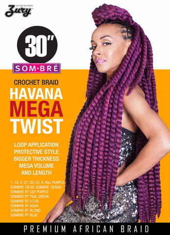 Zury Havana Twist Braid Mega Synthetic Braiding Hair - Wow Beauty Supply