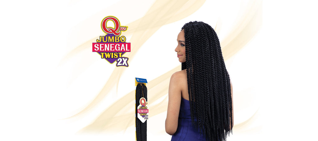 Shake-N-Go Que Jumbo Senegal Twist Synthetic Braiding Hair - Wow Beauty Supply - 1