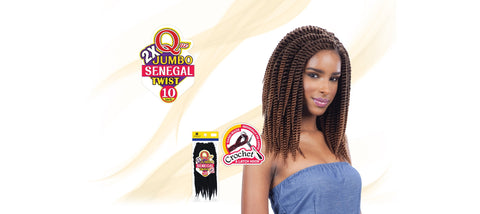 Shake-N-Go Que Jumbo Senegal Twist Synthetic Braiding Hair - Wow Beauty Supply - 2