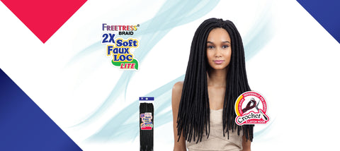 Shake-N-Go F/B 2X Large Soft Faux Loc Synthetic Braiding Hair - Wow Beauty Supply