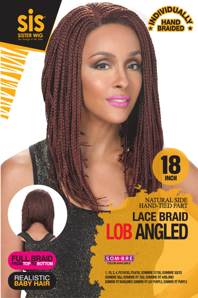Zury SIS Lob Angled Braid Lace Front Wig - Wow Beauty Supply