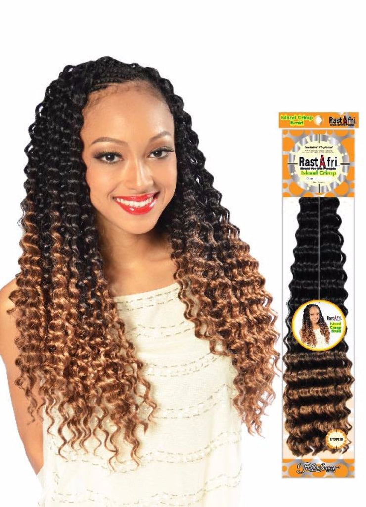 Rastafri Island Crimp Synthetic Braiding Hair - Wow Beauty Supply