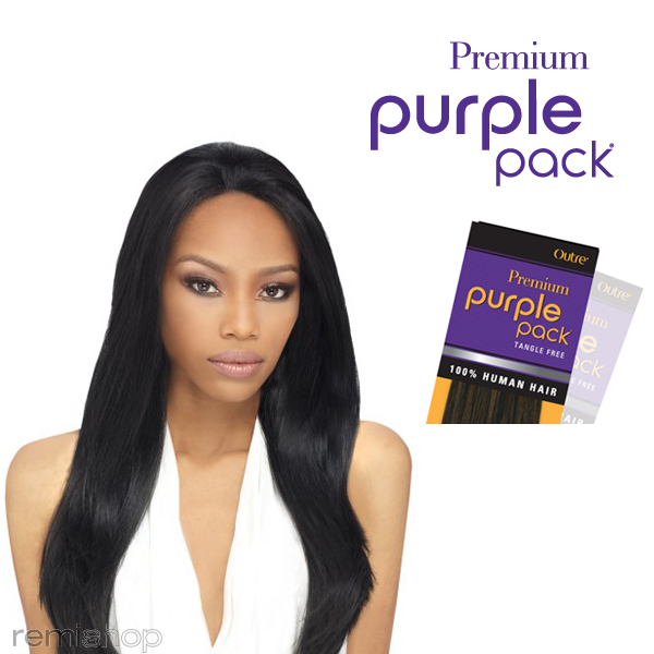 Outre Premium Purple Pack Yaki 100% Human Hair 18""