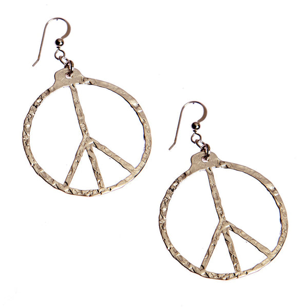 Earrings: Peace Symbol