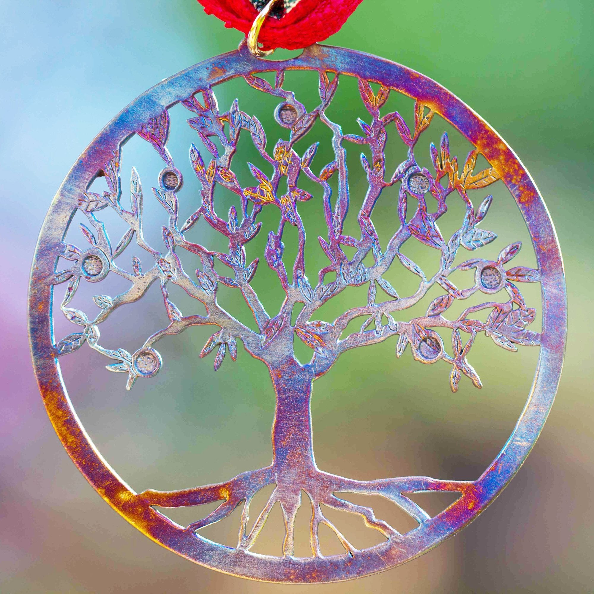 Tree of life ornament - Tree Of Life Ornament With Ribbon