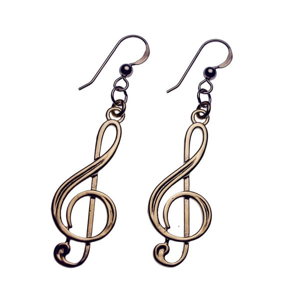 Earrings: Treble Clef
