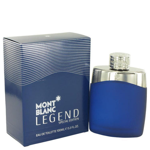 MontBlanc Legend by Mont Blanc Eau De Toilette Spray (Special Edition-Blue) 3.4 oz