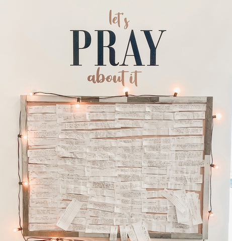 Let's Pray About It Prayer Wall Southern Grace Creations