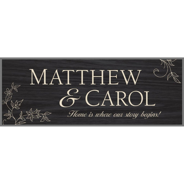 Black Plaque - Engravable (ZBOB0008) - Southern Grace Creations