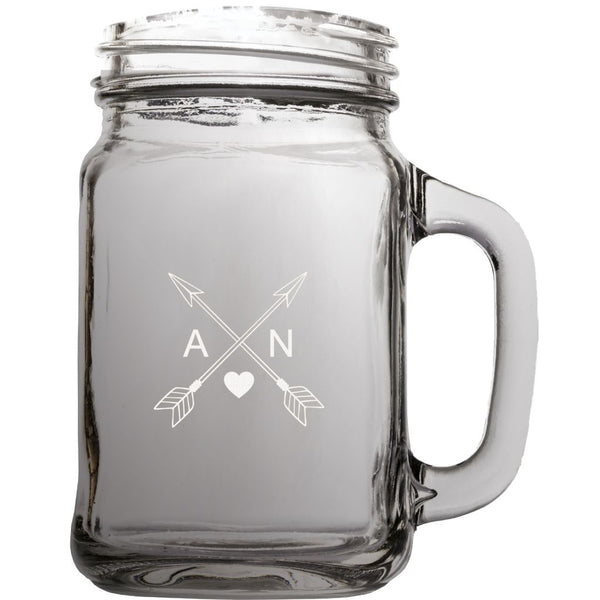 MASON JAR 22oz WITH HANDLE - Engravable (ZBTL0009)