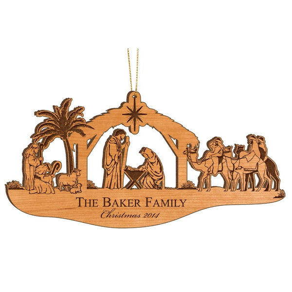 NATIVITY ORNAMENT - Engravable (ZCFW10)